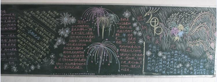 """目的国旗下的演讲;二是各支部以""""回顾2009,展望2010""""为主题办了黑板报"""